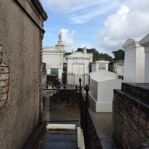 Above ground tombs.